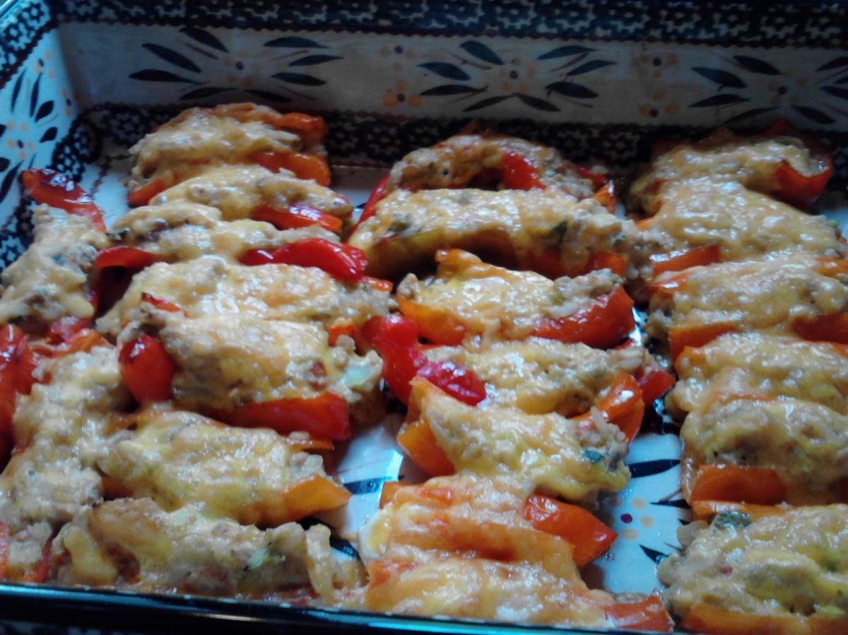 Stuffed chili peppers